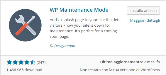 Plugin WordPress - WP Maintenance Mode
