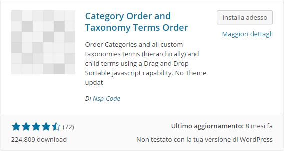 Plugin WordPress - Category Order