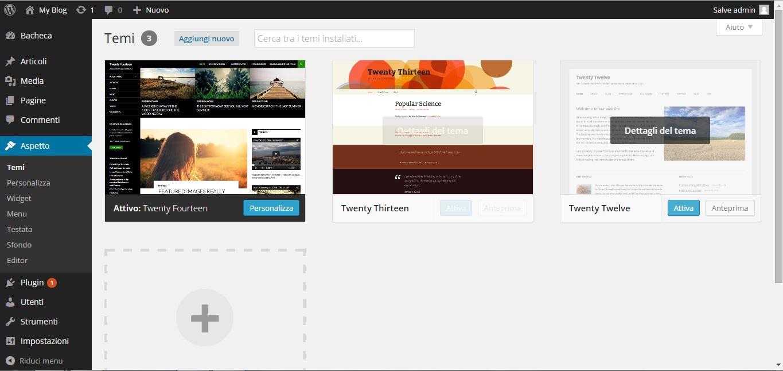 Guida WordPress - aspetto
