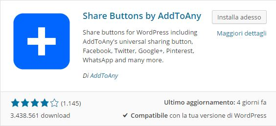 Plugin WordPress - Share Buttons