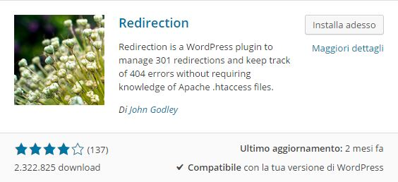 Plugin WordPress - come impostare un redirect