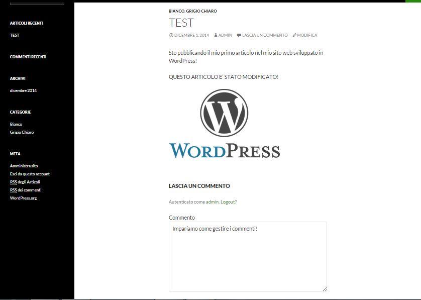 Guida WordPress - gestione commenti